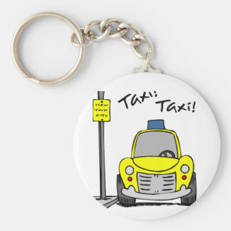 NYC Taxi Basic Round Button Key Ring