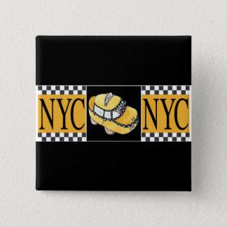 NYC Taxi Cab 15 Cm Square Badge