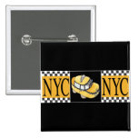 NYC Taxi Cab Pinback Buttons