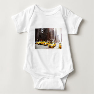 NYC taxi cabs in New York Baby Bodysuit