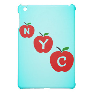 NYC Three Red Apples With Stem And Leaf Case For The iPad Mini