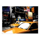 NYC Times Square Broadway City Taxi Cabs Postcard