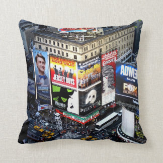 NYC Times Square Throw Pillow