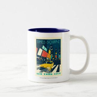 NYC - Times Square Two-Tone Coffee Mug