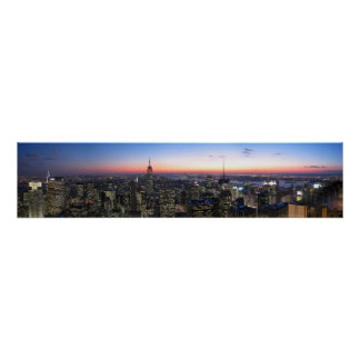 NYC Top of the Rock Panoromaic picture Poster