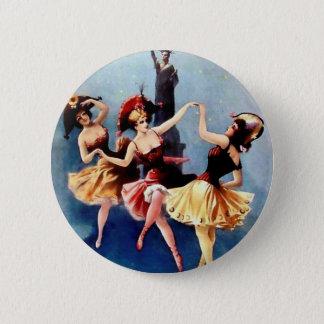NYC Vintage Ballerinas Dance 6 Cm Round Badge