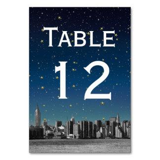 NYC Wide Skyline Gradient Blue Starry DIY BG Card