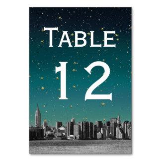 NYC Wide Skyline Gradient Dusk Starry DIY BG Table Cards