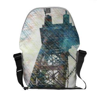 NYC Williamsburg Bridge patternized Courier Bags