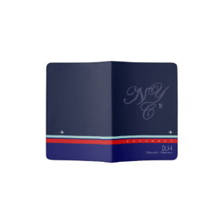NYC with name & initials, stylish Passport Holder