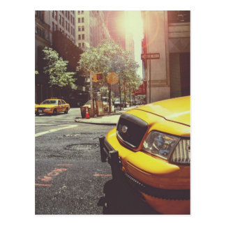 NYC Yellow Cab Postcard