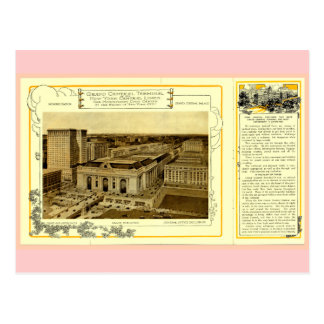 NYCentral Railroad Flyer - Grand Central Terminal Postcard