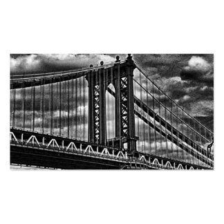 NYC's Manhattan Bridge BW A1 Pack Of Standard Business Cards