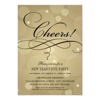 NYE Party Invitations | Champagne Cheers Theme