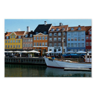 Nyhavn Harbor, Copenhagen, Denmark Poster
