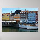 Nyhavn Harbour, Copenhagen, Denmark Poster