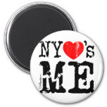 NYheartsME 2 6 Cm Round Magnet