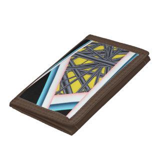 Nylon Wallet Abstract Art