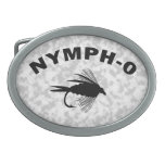 Nymph-O funny fly fishing lure Belt Buckles