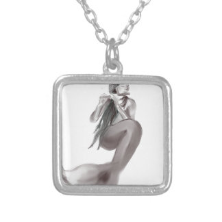 nymph silver plated necklace