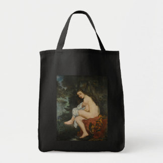 Nymph Surprised by Edouard Manet Grocery Tote Bag
