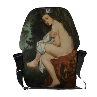 Nymph Surprised by Edouard Manet Messenger Bags