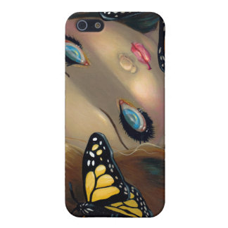 """Nymph with Monarchs"" iPhone 4 Case"