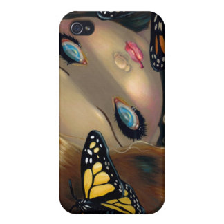 """""""Nymph with Monarchs"""" iPhone 4 Case"""