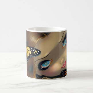 """Nymph with Monarchs"" Mug"