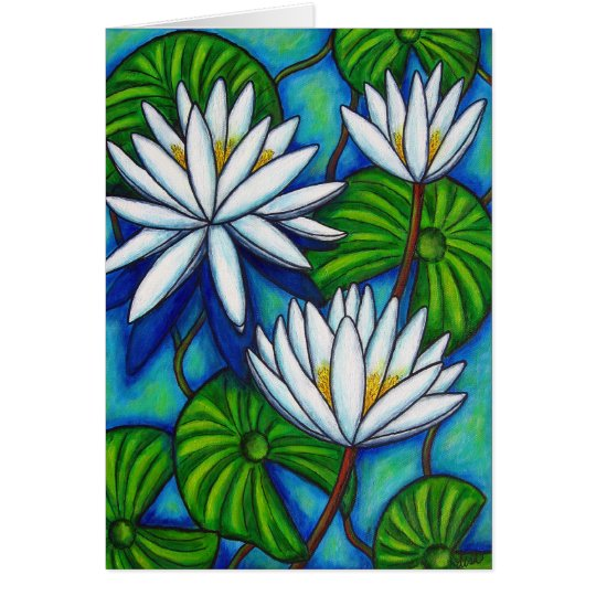 Nymphaea Blue Greeting/Note Card