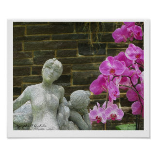 Nymphs & Orchids mosaic poster