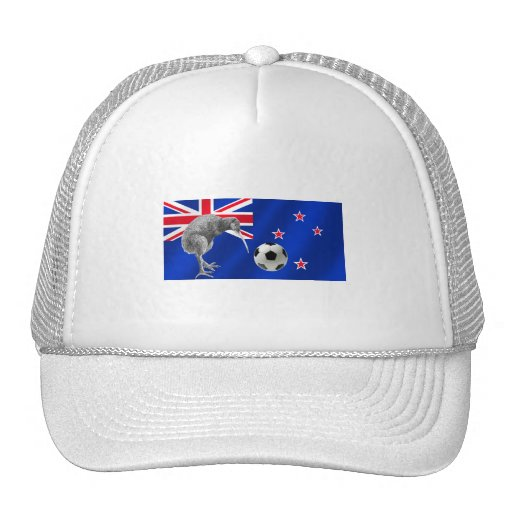 NZ all whites Kiwi soccer football fans gifts Mesh Hat