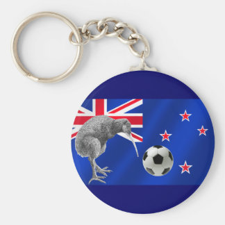 NZ all whites Kiwi soccer football fans gifts Basic Round Button Key Ring