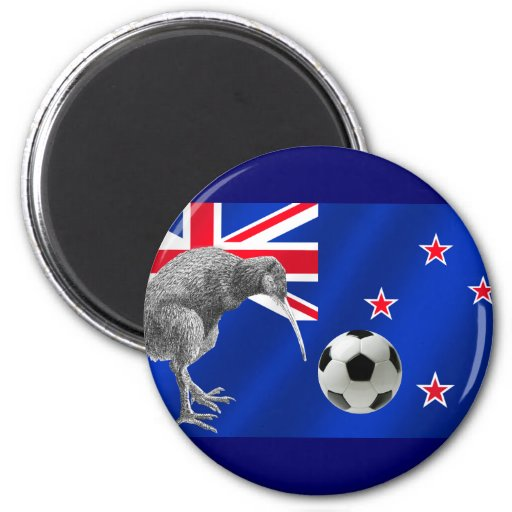 NZ all whites Kiwi soccer football fans gifts Magnet