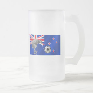 NZ all whites Kiwi soccer football fans gifts Frosted Glass Mug