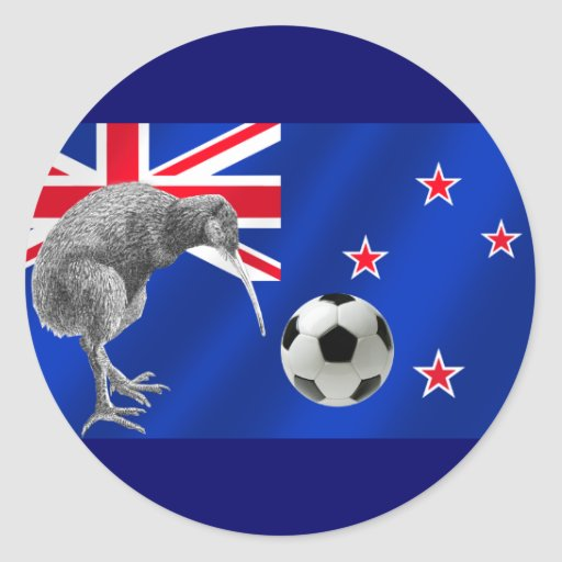 NZ all whites Kiwi soccer football fans gifts Sticker