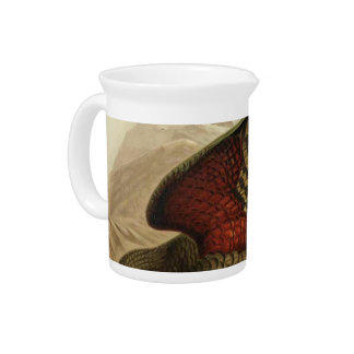 NZ Birds - Kea Semi-Abstract Pitcher
