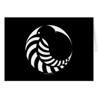 NZ Kiwi / Silver Fern Emblem Card
