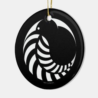 NZ Kiwi / Silver Fern Emblem Christmas Ornament