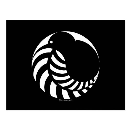 NZ Kiwi / Silver Fern Emblem Post Card
