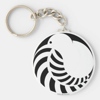 NZ Kiwi / Silver Fern Key Ring