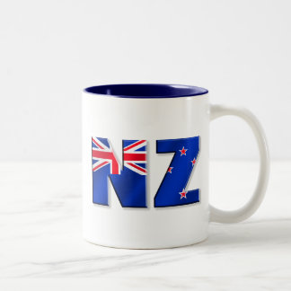 NZ logo flag of New Zealand Two-Tone Coffee Mug