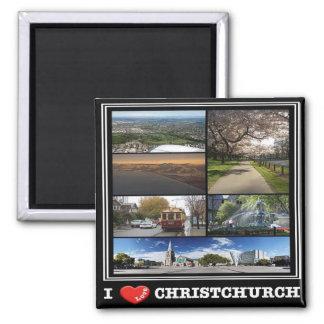 NZ - New Zealand - Christchurch - I Love Square Magnet