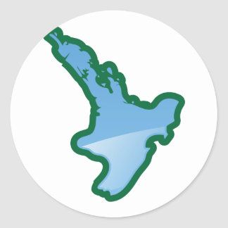 NZ North island Classic Round Sticker