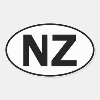 NZ Oval Identity Sign Oval Sticker