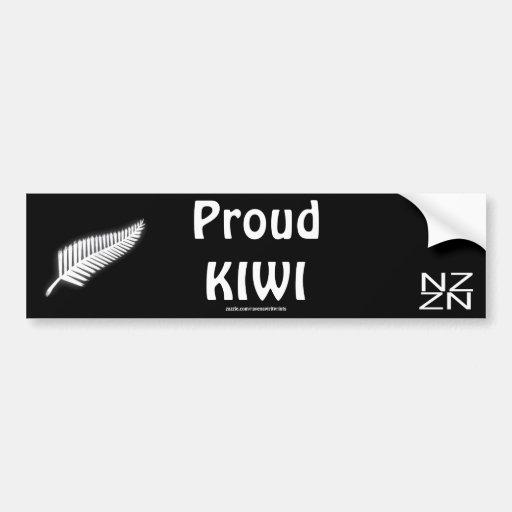 NZ Silver Fern National Emblem Patriotic Gift Bumper Sticker