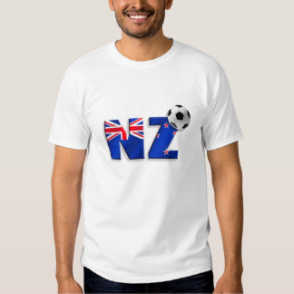 NZ soccer ball gifts flag of New Zealand style Tee Shirt