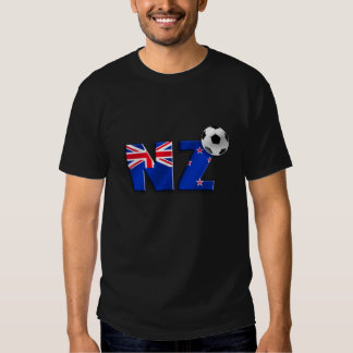 NZ soccer ball gifts flag of New Zealand style Tees