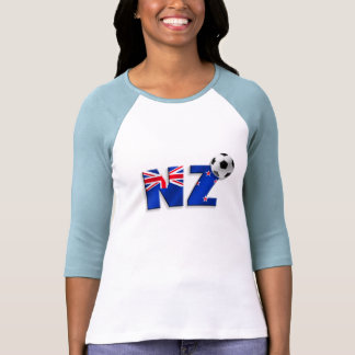 NZ soccer ball gifts flag of New Zealand style Tshirts