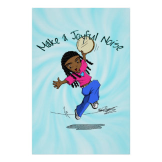 Nzinga - Make a Joyful Noise Blue - POSTER
